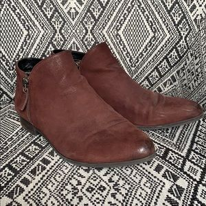 Wine Ankle Booties